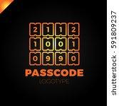enter pin code or password icon....   Shutterstock .eps vector #591809237