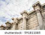 architectural detail from... | Shutterstock . vector #591811085