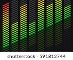 equalizer. vector 3d... | Shutterstock .eps vector #591812744