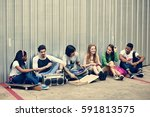 people friendship togetherness... | Shutterstock . vector #591813575