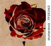 art floral vintage colorful... | Shutterstock . vector #59181463