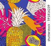 floral pattern background....   Shutterstock .eps vector #591816239