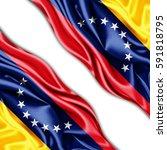 venezuela  flag of silk with...   Shutterstock . vector #591818795
