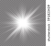 glow light effect. starburst...   Shutterstock .eps vector #591823439