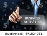 business man pointing his hand... | Shutterstock . vector #591824081