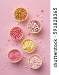 flat lay of colorful sprinkles... | Shutterstock . vector #591828365