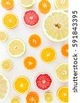 Fruits Pattern Of Lemon  Orang...