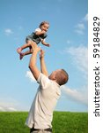 dad and his little daughter... | Shutterstock . vector #59184829