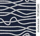 marine rope line seamless... | Shutterstock . vector #591851681