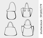 set of bags | Shutterstock .eps vector #591852779