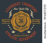 new york city college league ... | Shutterstock .eps vector #591857255