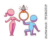 vector cartoon image of a... | Shutterstock .eps vector #591862019