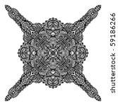 beautiful detailed hand drawn... | Shutterstock . vector #59186266