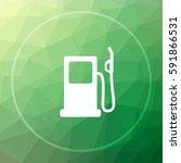 gas pump icon. gas pump website ... | Shutterstock . vector #591866531