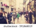 blurred people background | Shutterstock . vector #591868019