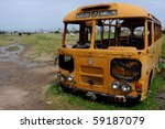 Old Abandoned School Bus In A...