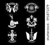Set Vector Tattoo Studio Logo...