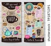 coffee shop menu template  cafe ... | Shutterstock .eps vector #591871391