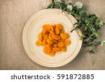 nuts and candied fruit ... | Shutterstock . vector #591872885