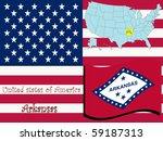 arkansas state illustration ... | Shutterstock . vector #59187313