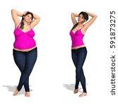 concept conceptual woman girl... | Shutterstock . vector #591873275