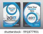 blue color scheme with city... | Shutterstock .eps vector #591877901