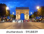 arc de triomphe  paris  france | Shutterstock . vector #5918839