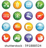 agriculture vector icons for... | Shutterstock .eps vector #591888524