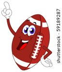 cartoon american football... | Shutterstock .eps vector #59189287
