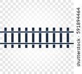 isolated rails  railway top... | Shutterstock .eps vector #591894464