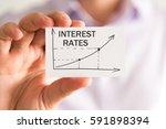 closeup on businessman holding... | Shutterstock . vector #591898394