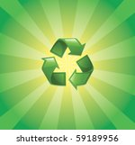 recycling logo - stock vector