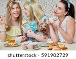Three Young Women Gossipers An...