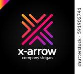 letter x logo design concept... | Shutterstock .eps vector #591902741