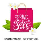 spring sale concept for your... | Shutterstock .eps vector #591904901