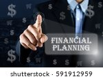 business man pointing his hand... | Shutterstock . vector #591912959