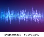 abstract audio equalizer... | Shutterstock .eps vector #591913847