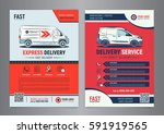 set of express delivery service ...   Shutterstock .eps vector #591919565