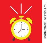 alarm clock | Shutterstock .eps vector #591923174