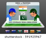 live cricket telecast promotion ...   Shutterstock .eps vector #591925967