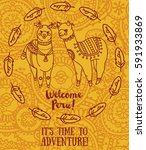banner for travel and adventure ... | Shutterstock .eps vector #591933869