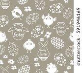 easter egg seamless holiday... | Shutterstock .eps vector #591946169