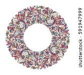 vector circle frame  wreath...   Shutterstock .eps vector #591947999