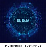 big data visualization.... | Shutterstock . vector #591954431