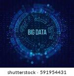 big data visualization.... | Shutterstock . vector #591954431