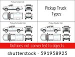 truck pickup types template... | Shutterstock .eps vector #591958925