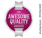 purple awesome quality badge  ... | Shutterstock .eps vector #591962405