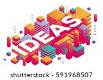 vector illustration of three... | Shutterstock .eps vector #591968507