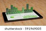 ecology finance report of... | Shutterstock . vector #591969005