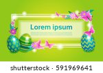 decorated colorful eggs easter... | Shutterstock .eps vector #591969641